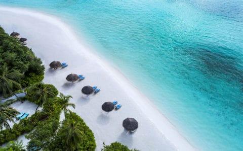 Four-Seasons-Kuda-Huraa-Beach-Bungalows-with-Pool-Aerial.