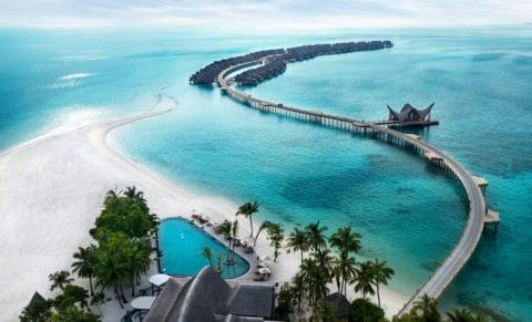 Joali Maldives Aerial Pool View