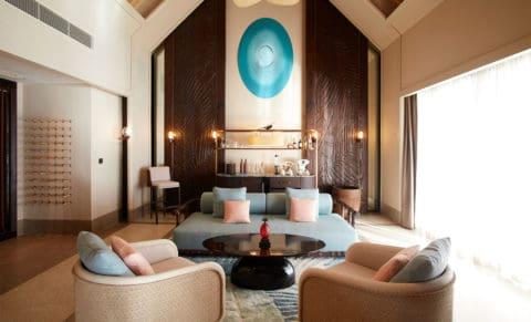 Joali Maldives Luxury Water Villa with Pool Living Room
