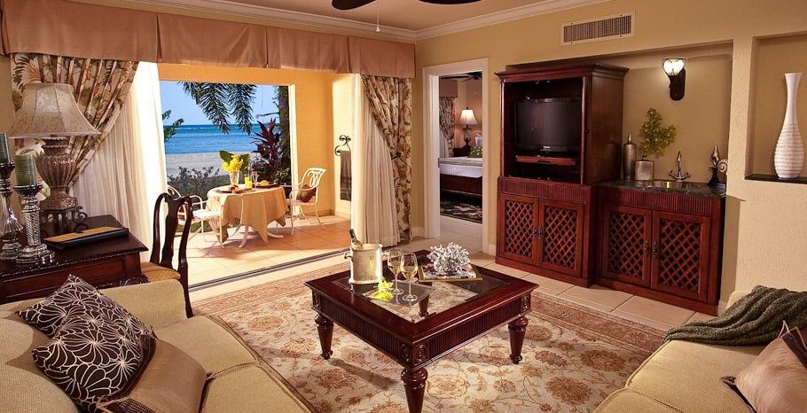 Sandals South Coast Beachfront One Bedroom Walkout Butler Suite