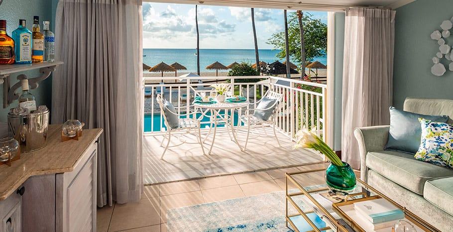 Sandals Grande Antigua Caribbean Beachfront Grande Luxe Club Level Room