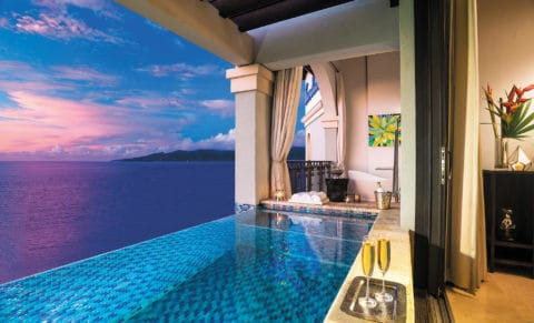 Sandals Grenada Resort & Spa Pool Night