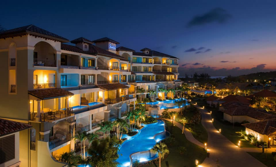Sandals Grenada Resort & Spa at Night