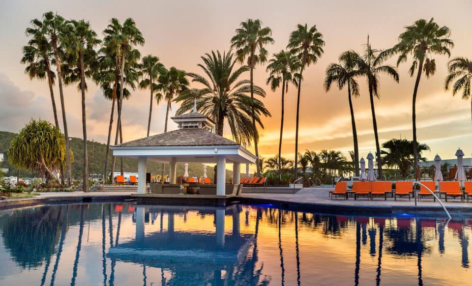 Moon Palace Jamaica Pool Sunset