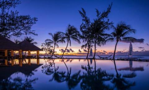 Sandals Royal Barbados Pool at Night