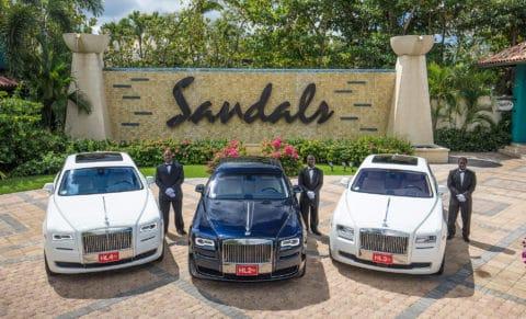 Sandals Royal Barbados Rolls Royce Transfer