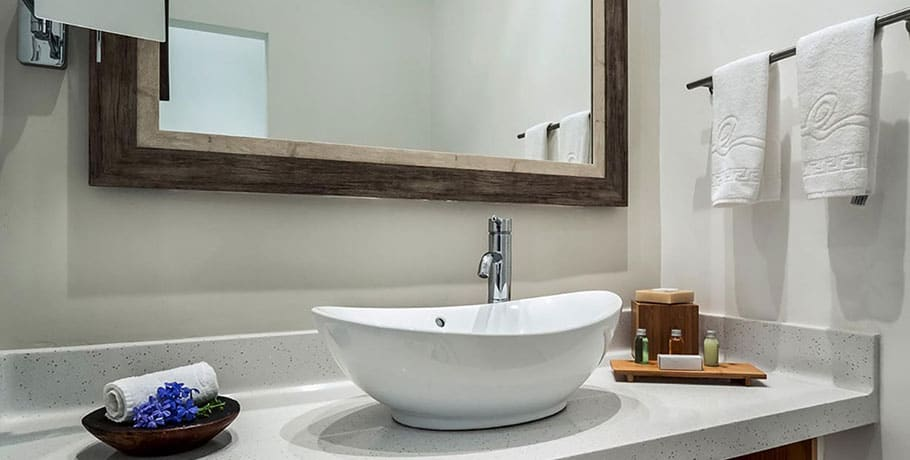 waves hotel & spa standard bathroom