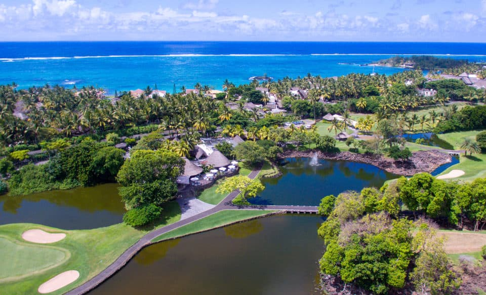 Constance Belle Mare Plage Aerial