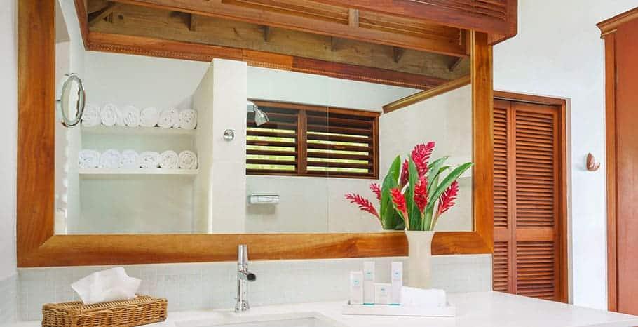 Couples Swept Away Jamaica Beachfront Suite Bathroom