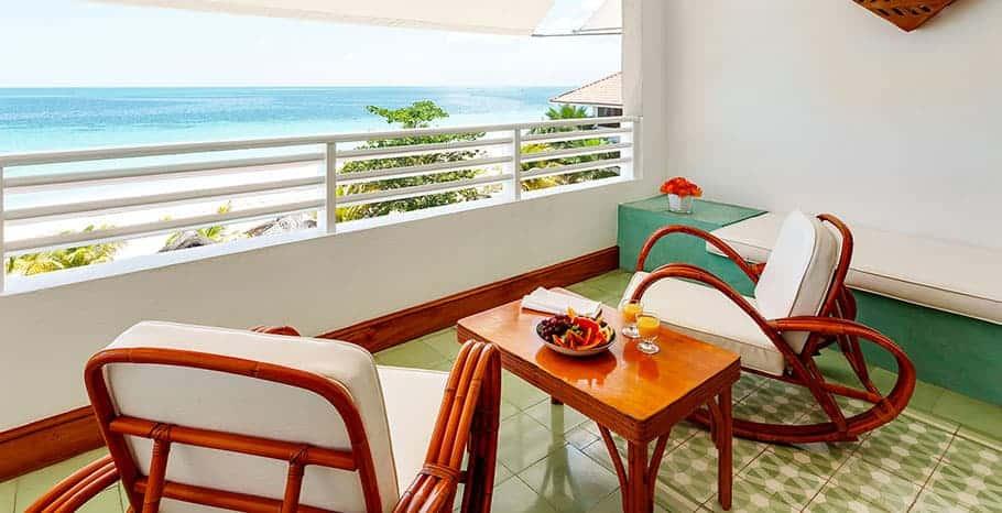 Couples Swept Away Jamaica Great House Ocean Suite Balcony