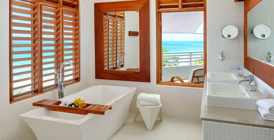 Couples Swept Away Jamaica Great House Ocean Suite Bathroom
