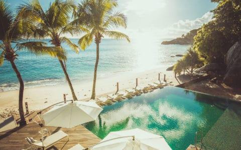 Carana Beach Hotel Aerial of Pool