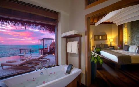 Baros-Maldives_Water-Pool-Villa-Twilight