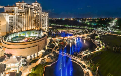 Grand-Hyatt-Baha-Mar-Exterior-Property-Show-Fountains-Night