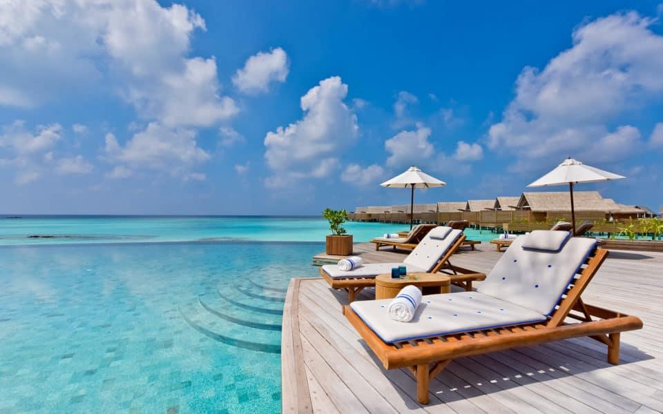 Milaidhoo Maldives Dining Compass Pool Bar Dining Compass Pool Bar