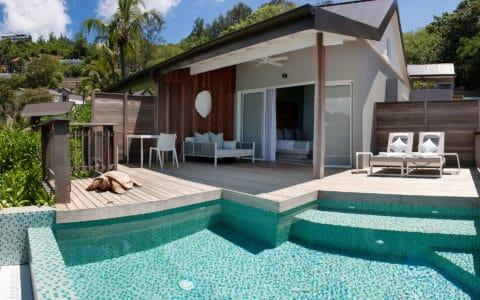 Carana Beach Hotel Ocean View Pool Chalet Decking