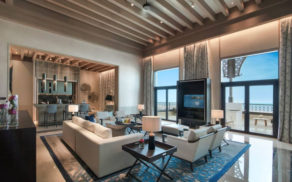 Saadiyat Rotana Main Pool Royal Suite Living Room