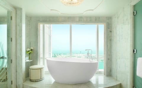 The St. Regis Abu Dhabi Grand Deluxe Suite Bathroom