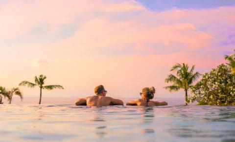 Couple on Holiday Infinity Pool